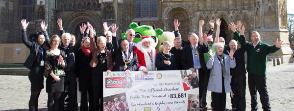 The 2014 Santa Fun Run raised £83,681 for deserving causes. Photo Running Imp