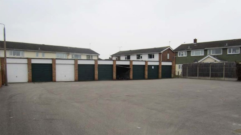The City of Lincoln Council plans to demolish garages such as these off Whitethorn Grove to make way for council bungalows