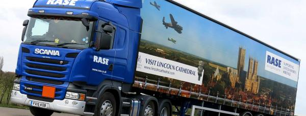 Rase Distributions lorry paying tribute to Lincoln