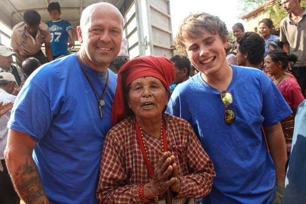 Leo Scott-Smith and Garry Goddard from local charity Lincs2Nepal flew out to Nepal in the wake of the devastating earthquake.