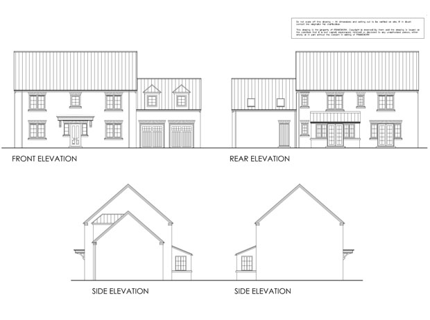 An example of the style of houses planned for the area.