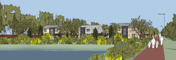 Artist Impression of the proposed development. Design: Core Architects.