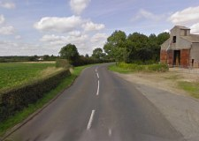 The crash happened on the B1190 near Bucknall. Photo: Google Street View