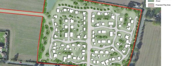 Developers have resubmitted a plan for Bassingham with the number of new homes reduced to 98 from 120.