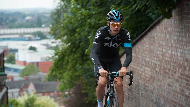 Team Sky rider Luke Rowe took to the course in preparation of the big Sunday road race. Photo: Steve Smailes for The Lincolnite
