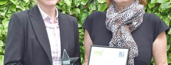 Head teacher of Sir Robert Pattinson Academy Helen Renard (left) with Kate Brooks