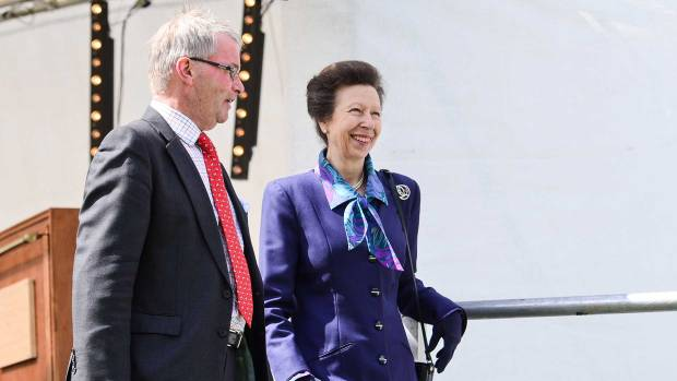 Princess Anne with Leader of Lincolnshire County Council, Councillor Martin Hill. Photo: Steve Smailes for The Lincolnite