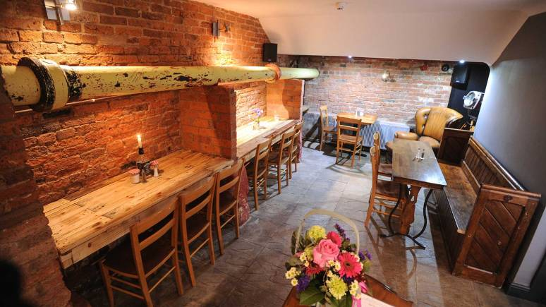 The cellar area of the listed building. Photo: Steve Smailes for The Lincolnite