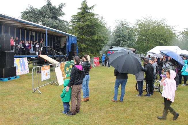 Organisers say numbers were unfortunately low due to poor weather. Photo: Linkage