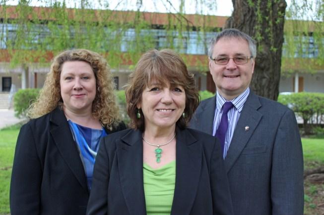 Business Growth and Skills Advisers Toni O'Brien, Noreen Read and David Hawkins