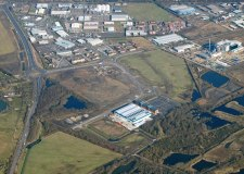 Teal Park off the A46 in Lincoln, the latest industrial and commercial development in the city