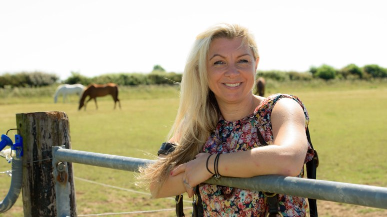 Jodi Huggett gets back on the horse after fighting off cancer