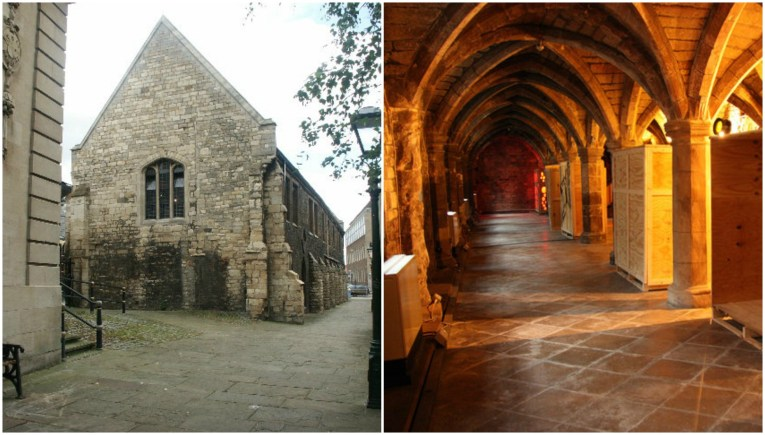 The former Lincoln Greyfriars museum. Photos (L-R) Dave Hitchborne and  Richard Croft