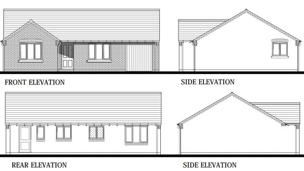 Design plans for the bungalows. Photo: Allison Homes