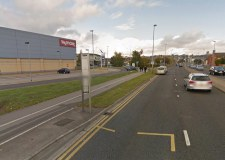 The footpath to the west of Tritton Road near to Valentine Retail Park will be closed for around 12 weeks. Photo: Google Street View