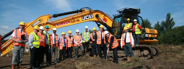 Cllr Mike Gallagher, NKDC's Deputy Leader, launches the Council's £2m development of new business units at Blackwood Court, Teal Park, North Hykeham/ Photo: NKDC
