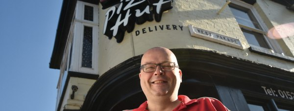 General Manager Ian Smith at the new Pizza Hut Delivery in Lincoln. Photo: Steve Smailes for The Lincolnite