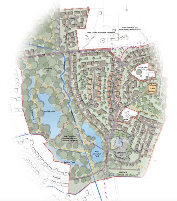 Developers' vision for The Parklands in Sudbrooke.