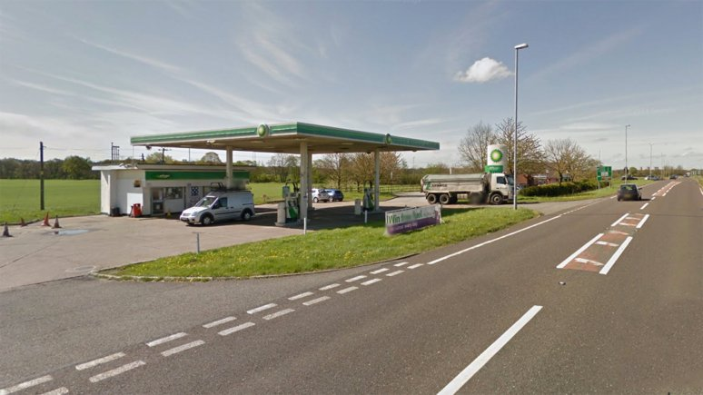 Otters Bridge Service Station near Saxilby. Photo: Google Street View