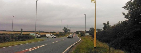 The new average speed camera system on the A15 Lincoln- Sleaford.