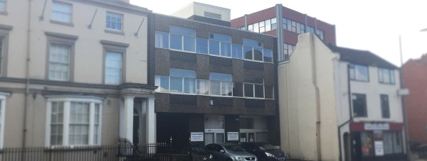 The former NHS Healthcare Services building on Newland would be demolished in the plans.
