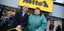 Morten Moberg Nielsen, Managing Director at Netto UK opening the new store Photo: Steve Smailes for The Lincolnite