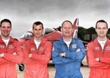 Left to Right: Flight Lieutenant Stew Campbell, Wing Commander Martin Higgins, Flight Lieutenant Doug Smith, Flight Lieutenant Joe Hourston