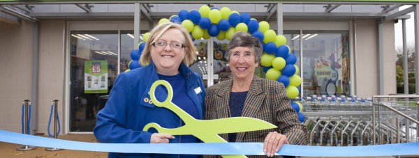 Lincolnshire Co-op's president Amy Morley, left, and Di James representing Washingborough Food Store's Community Champions, Canwick Playing Field Association.