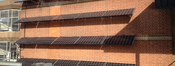 The new solar panels at Lucy Tower car park