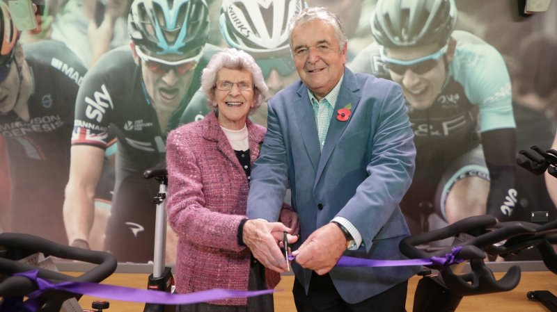 Marion Brighton, Leader of North Kesteven District Council and former Lincoln Grand Prix organiser Ian Emmerson marking the occasion. Photo: Phil Crow