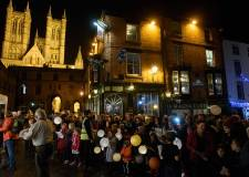 The beautiful lantern parade in 2015. Photo: Steve Smailes for The Lincolnite