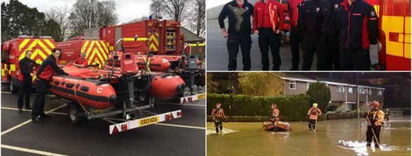 Lincolnshire Fire and Rescue crews have been deployed to play their part in rescue missions.