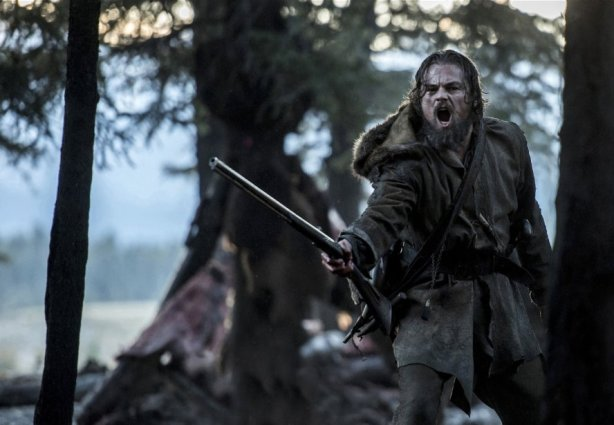 Leonardo DiCaprio in The Revenant. Photo by 20th Century Fox.