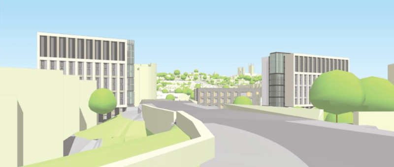 Short range views of the blocks provided in the application.