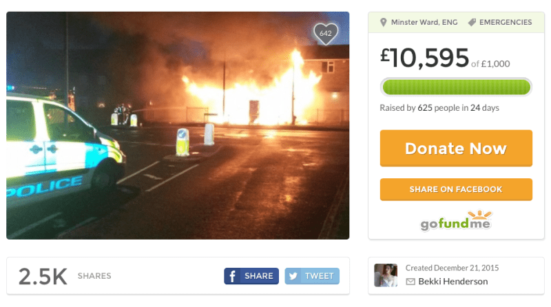 Donations have now topped the £10,000 mark on a fundraising page set up by a friend of the family.