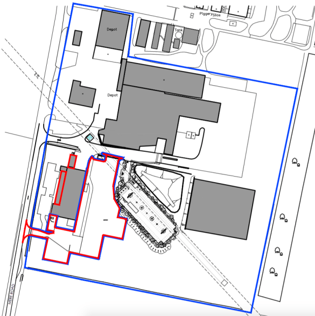 Proposed site for the extension
