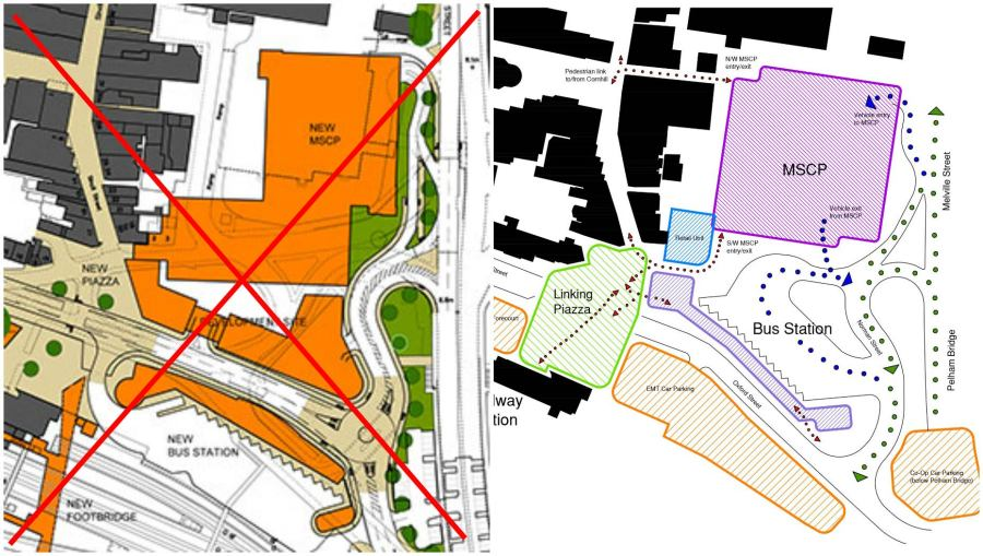 Revised plans for the Lincoln Transport Hub.