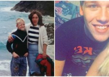 18-year-old Ryan Lee Wright (R) is desperately searching for his dad from Lincoln (pictured left as a boy)