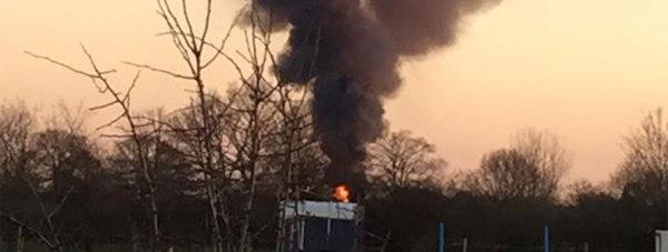The fire in Swinderby. Photo: Robert Morris