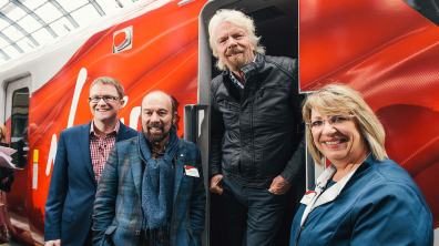 """Literally translated as """"East"""" in Japanese, the 65 Virgin Azuma trains will be made by Hitachi in County Durham"""