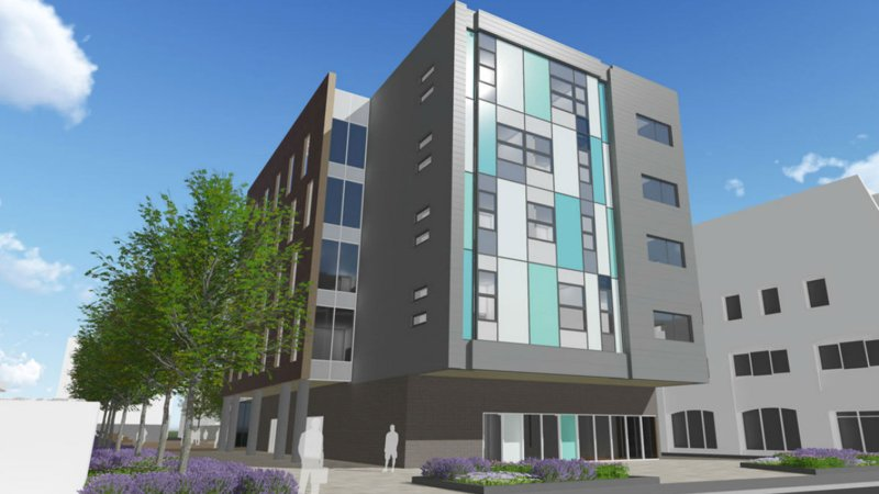 The Sarah Swift Building is expected to be completed by May 2017. Photo: BAM Construction