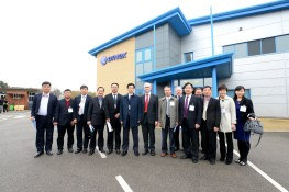 The Chinese delegation take a tour of Dynex. Photo: Stuart Wilde