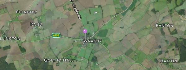 The collapsed sewer is at the junction of the A158 and the B1202 in Wragby. Image: Apple Maps