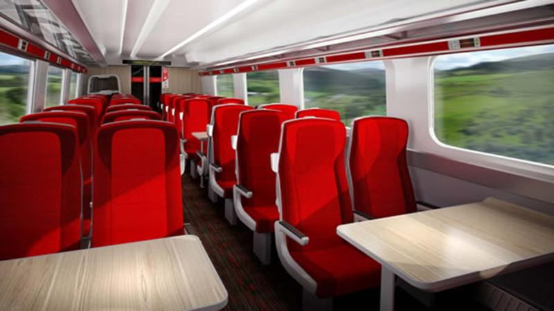 Artist impression of Standard class in the upcoming Virgin Azuma trains