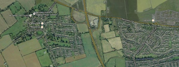The crash happened on the A1 at Barrowby. Photo: Google Maps
