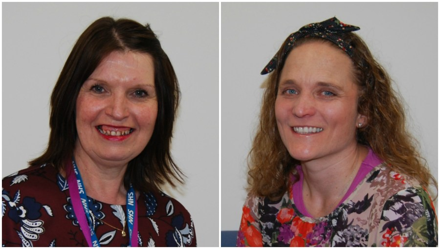 The honour has been awarded to Sylvia Wilkinson (L) and Leanne McHugh (R)