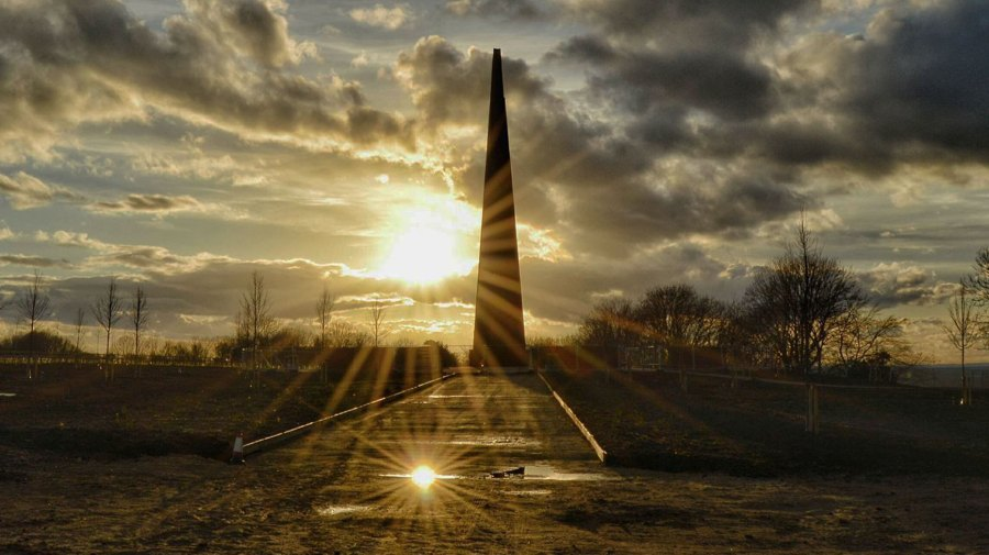 The Bomber Command Memorial Spire. Photo: Jason Corrigan