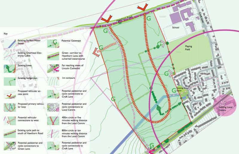 Opportunities and constraints of the new proposed development. Photo: Cyden Homes