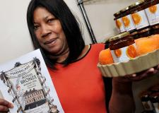 Marmalade maker Jenny Smith with her award