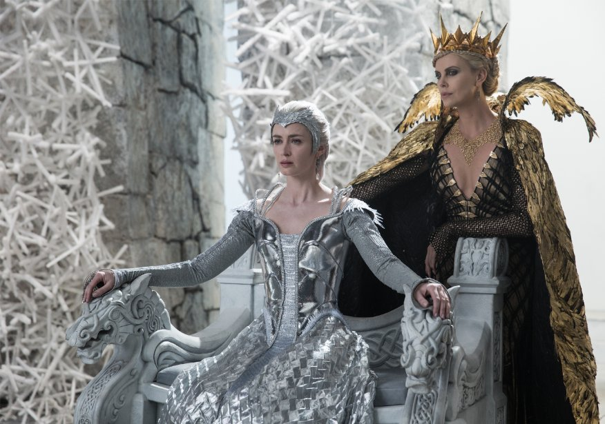 Emily Blunt and Charlize Theron in The Huntsman: Winter's War. Photo by Universal Pictures.
